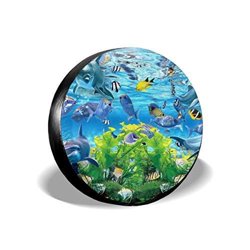 Usting Band Cover, Zonbescherming En Regen Bescherming Band Cover, Gepersonaliseerde Band Cover,Abstract 3d Vissen Aquarium Achtergrond,(4 Maten Optioneel)