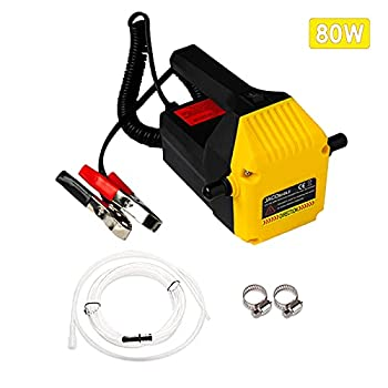 Jacobable Oil Change Pump Extractor 12v 80w Marine Oil Change Pump and Electric Oil Pump,Portable Design Great Choice for Oil Changes in Car Ship Truck Motorcycle  Yellow