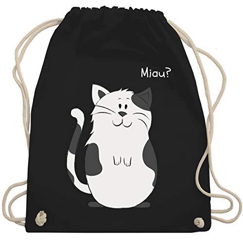 Shirtracer Tiermotive Kind - lustige Katze - Unisize - Schwarz - WM110 - Turnbeutel und Stoffbeutel aus Bio-Baumwolle