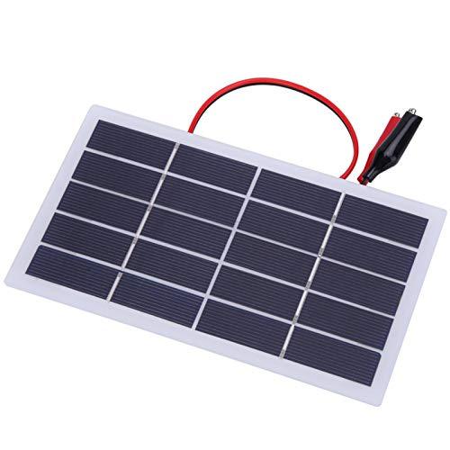 Cargador de energía solar ligero con clip para todos los pequeños aparatos eléctricos para acampar al aire libre (2 W 5 V + clip)