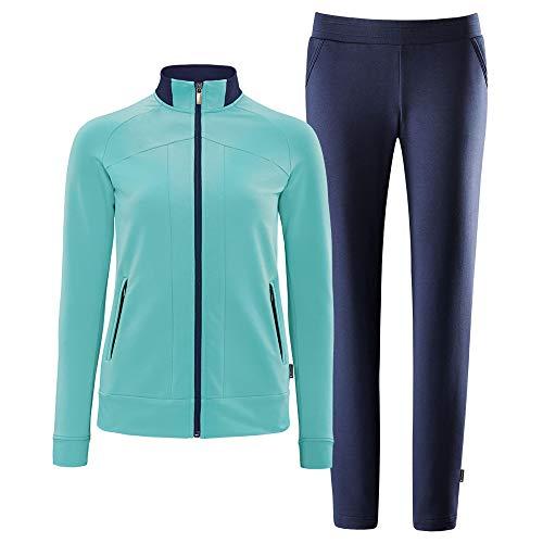 Schneider Sportswear Damen Deena Anzug, brightmint/dunkelbla, 46