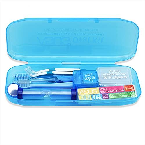 1 Cepillo de dientes en forma de U 1 Cepillo de dientes de extremo pequeño 1 Espejo de la boca Cepillos interdentales en forma de 2 L 2 pinceles interdentales en forma de I1 Floss dental de -green