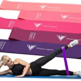 Phoenix Legend Exercise Resistance Bands (5 Loop Set) Stretching, Workout, Physical Training, Recovery, and Fitness | Low-Impact Progressive Strength | Wide, Non-Slip Shape | Women, Men … (Pink)