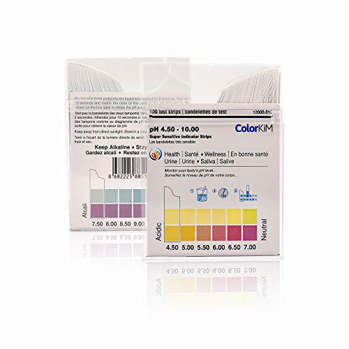 pH Paper for Testing pH Balance in the Body, 4.5-10 Scale (100 Strips)