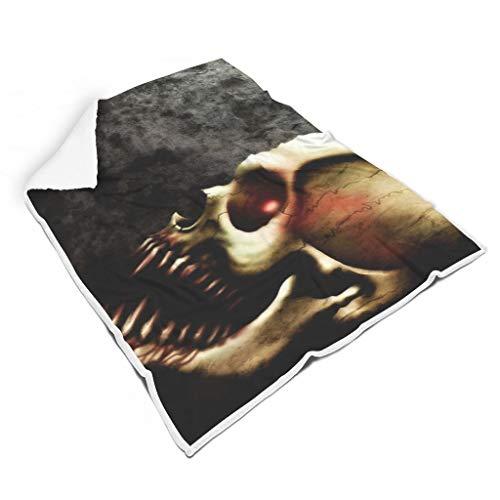 O5KFD&8 Blanket Skull Bone Head Themen Gedruckt Prämie Riese Decke Kapuze - White Weich Warm Geeignet für Geschenk eines Freundes Verwenden White 150x200cm