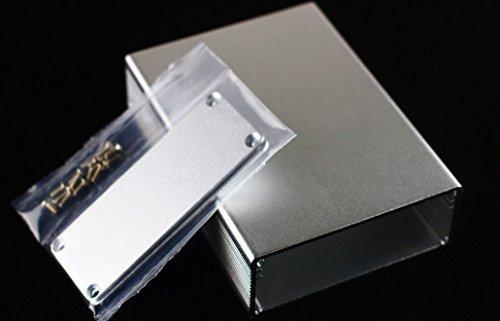 【自作用】DIY デジタルアンプ ポータブルヘッドフォンアンプ に最適! アルミ製ケース ボックス 箱 電子工作 キット 汎用 サイズ:Lサイズ or Mサイズ (Mサイズ)