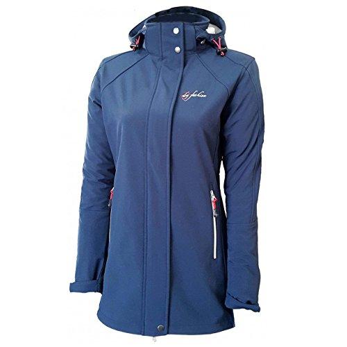 Dry Fashion Damen Softshell Mantel Sylt tailliert Regenmantel Regenjacke, Farbe:navyblau, Größe:40