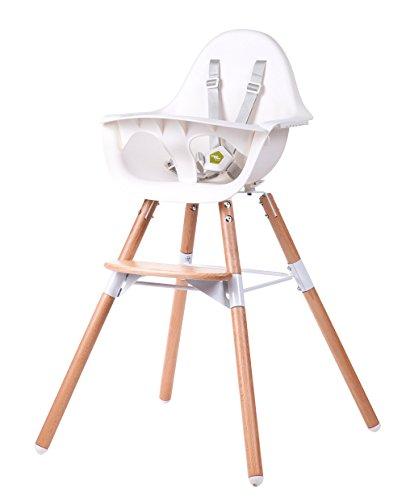 Childwood CHEVOCHNW Evolu 2 stoelen, 2 in 1 ring, natuurlijk wit