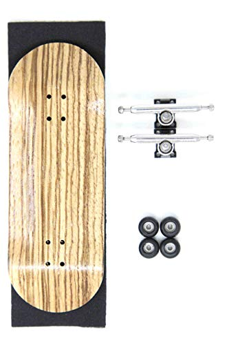 Skull Fingerboards ¥ Natura ¥ 34mm Pro Complete Professional Wooden Fingerboard Mini Skateboard 5 PLY with CNC Bearing Wheels