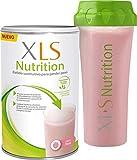 XLS Medical Nutrition Fresa + Shaker de regalo - Batido sustitutivo de comidas para perder peso - Ingredientes de origen natural - contiene todas las vitaminas del grupo B - Sin gluten - 400 g