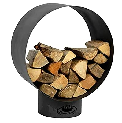 Garden Mile Fire Pits, Outdoor Garden Wood Burner, Firepit Garden Heating, Square or Bowl Shaped Fire Pits for Garden Heating or Wood Log Burner Cast Iron (Round Wood Store) from Garden Mile