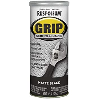 RUST-OLEUM 322126  Black Matte Rubberized Dip Coating, 14.5 ounce