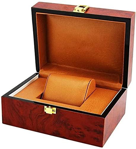 Caja de reloj de 2 capas caja de almacenamiento de relojes con tapa de cristal y pulsera bandeja organizador de reloj colección