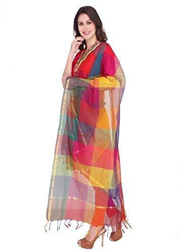 Weavers Villa Women's Cotton Silk Multicolor Dupatta (2.25 Mtrs)