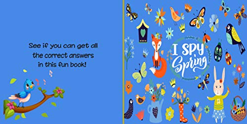 I Spy Spring: A Fun Guessing Picture Game for Kids Aged 2-5  An Alphabet Interactive Activity Book for Toddlers, Kindergarten & Preschoolers to Learn about Seasons (English Edition)