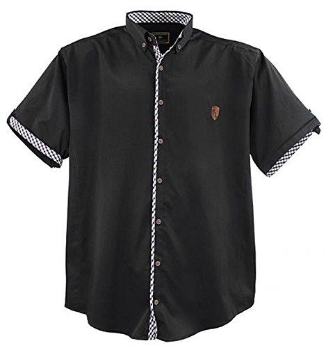 Lavecchia Übergrössen ! Schickes Kurzam-Hemd 9003A in Schwarz 5XL