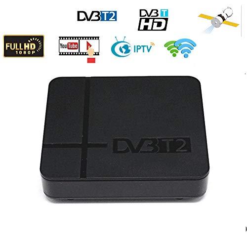 LFJNET (Updated Version DVB-T2 K2 HD Digital TV Terrestrial Receiver Support YouTube FTA H.264 MPEG-2/4 PVR TV Tuner Full HD 1080P Set Top Box EU Plug