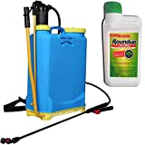 Suinga - Pack ROUNDUP 500ml + PULVERIZADOR 16L MOCHILA pulverizar, sulfatar,...
