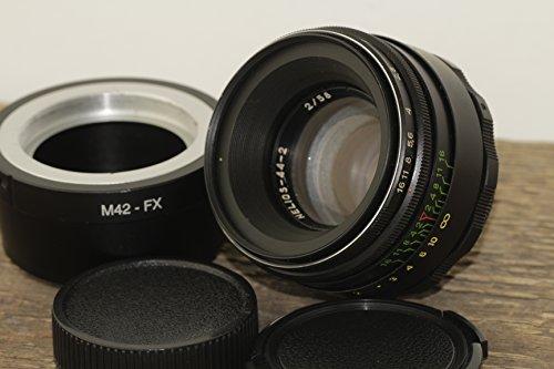 Helios 44-2 58 mm F2 Russisches Objektiv für FujiFilm FX Mount X-Pro1 X-E1 X-E2 X-M1 X-A1 X-A2 X-T1