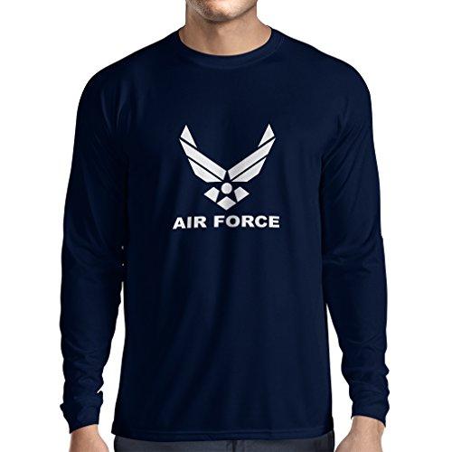 lepni.me Herren T Shirts United States Air Force (USAF) - U. S. Army, USA Armed Forces (X-Large Blau Weiß)