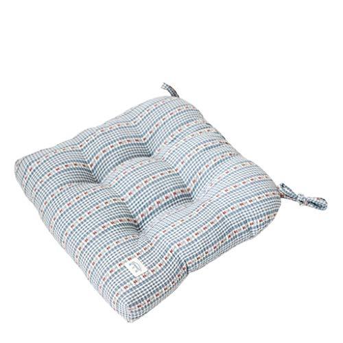 Tatami Bay Kussens voor eetkamerstoelen, dik kussen, voor raamkussens, voor bureaustoel, hangmat met riem, diameter 40 x 40 cm 40x40cm B