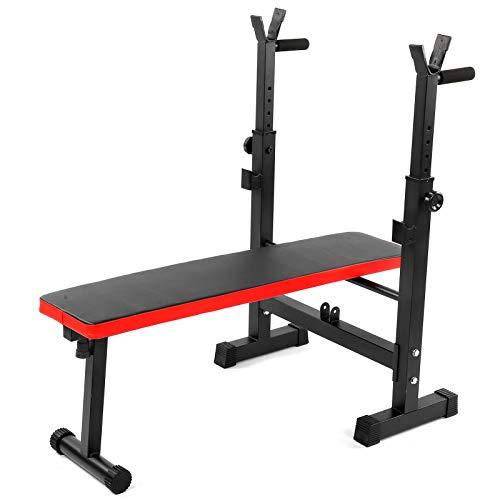 Equipo de levantamiento de pesas, barra de pesas para el hogar, ajustable, equipo de levantamiento de pesas, brazo de flexión y soporte elástico