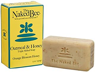 The Naked Bee Oatmeal & Honey Triple Milled Soap in Orange Blossome Honey, 5 Oz - 6 Pack
