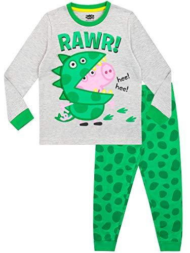 Peppa Pig Pijamas de Manga Corta para niños George Pig Verde 5-6 Años