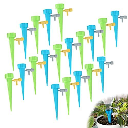 Yzwuyou 20 Piezas Riego Automatico Macetas Riego por Goteo para Macetas Botella de Agua de Riegopor Goteo Universal para el Riego de Plantas en Maceta de Interior al Aire Libre