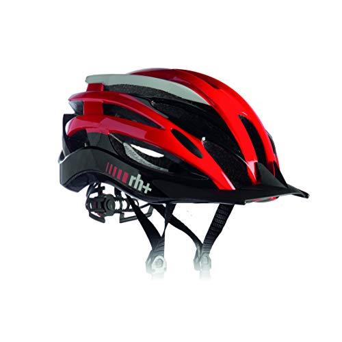 RH+ Casco de Bicicleta Z2IN1 Red White-Shiny Black XS/M Unisex Adulto