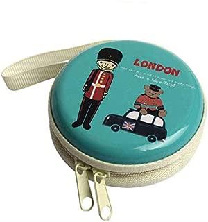 Prezzie Villa London Design Metal Earphone, Coin, Jewellery Pouches (Multicolour)