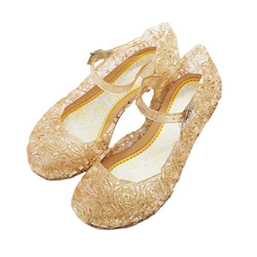Holibanna Princesa Jelly Shoes para nias Sandalias para nios Cute Kids Mary Jane Shoes Glitter Wedge para Dance Party Cosplay 15.5cm