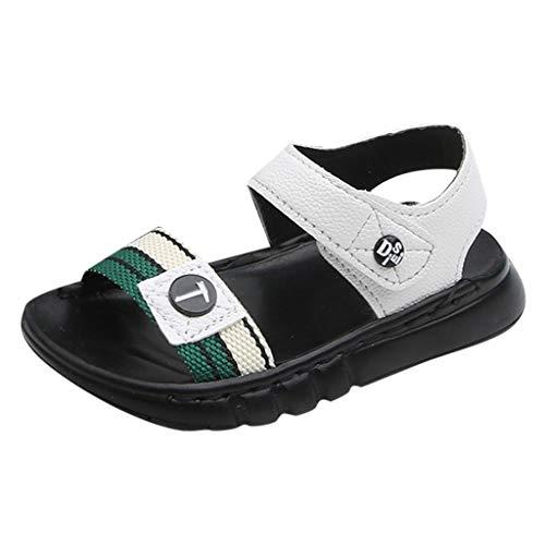 Elsta Jungen Mädchen Rutschfeste Weichem Leder Sandalen Outdoor Kinder Freizeit Offene Lauflernschuhe Schuhe Klettverschluss Trekkingsandalen