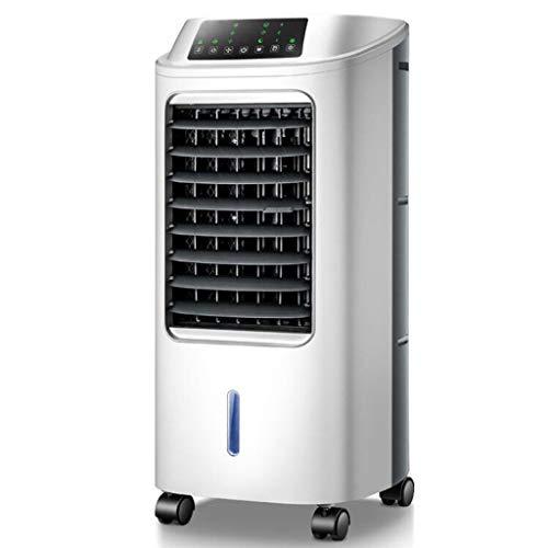 YWARX luchtkoeler ventilator luchtbevochtiger luchtreiniger 4-in-1 airconditioning (60 watt, 180 m3/h, 6 liter, 3 bedrijfsmodi, timer) Silent White