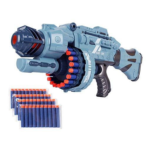Pistola de bala eléctrica continua de 20 ráfagas para chico pistolas de juguete Shockwave espuma Sucker, dardos de espuma Blaster, modelo militar de batalla