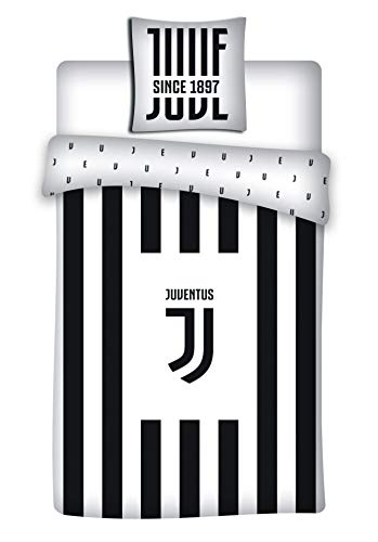 Juventus - Parure da letto: copripiumino 140 x 200 cm, federa 63 x 63 cm