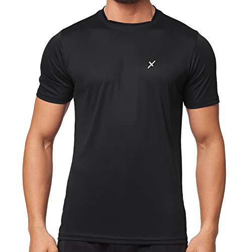 CFLEX Herren Sport Shirt Fitness T-Shirt Sportswear Collection - Schwarz L