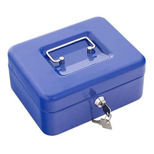 Rottner Geldcassette Traun 2 blauw - klassiek model - staal - geldtelcassette- kassagelinzet - cilinderslot