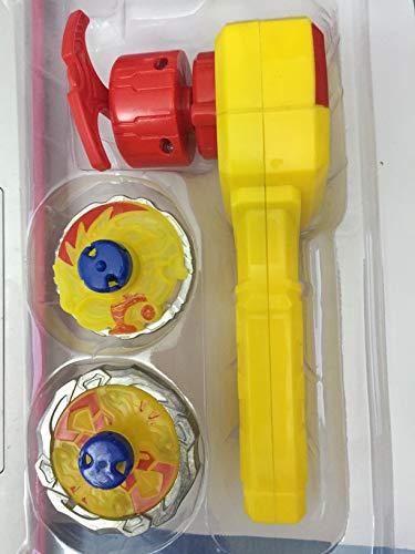 ML Peonzas con Launcher, nado Gyro Burst Top Starter con Spinning Top Conjunto, Nuevo Spinner con Turbo Burst Lanzador, Niños Peonzas Juguetes (Amarillo)