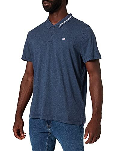 Tommy Jeans Tjm Reg Jersey Polo, Twilight Navy, L Uomo