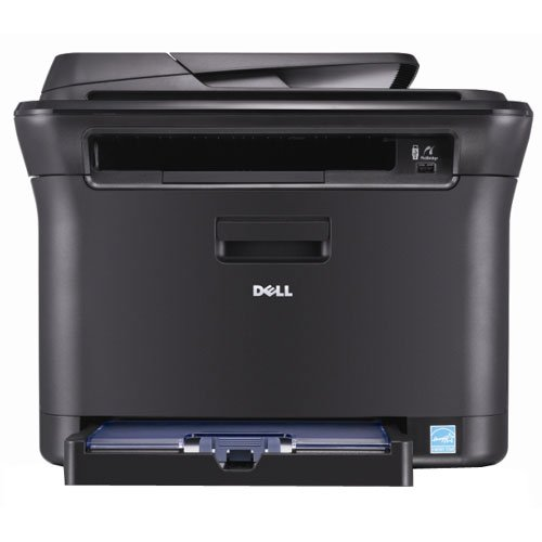 : Dell 1235cn Multifunction Network Color Laser Printer - Max Resolution 2400x600 dpi - Max Printing Speed 17 ppm - Duty Cycle 20, 000 PPM - Max Sheet Size 8.5x11 - ADF 15 sheets- USB, Ethernet, 128 MB RAM
