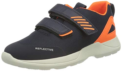 Superfit Rush Sneaker Lauflernschuh, BLAU/ORANGE, 31 EU