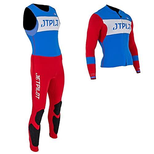 Jetpilot - Mono de esquí Matrix Race John and Jacket, color azul y rojo