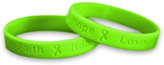 50 Pack Lymphoma Awareness Lime Green Silicone Bracelet - Adult Size - (50 Bracelets - Wholesale)