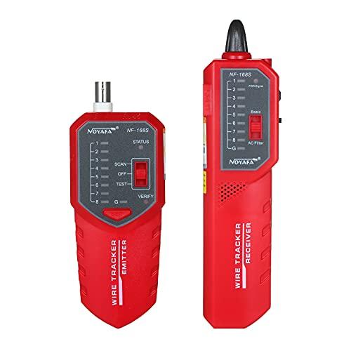 Fesjoy Trazador de Cables Buscador de línea telefónica Probador y mapeador de Cables Ethernet de Red para Interruptor PoE de Cable RJ11 / RJ45 / Cat 5 / Cat 6 / BNC