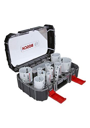 Bosch Professional 2608594186 Set di Seghe a Tazza in Metallo Duro Endurance for Heavy Duty Universal, Accessorio per Foratrice, Size, Set di 13 Pezzi