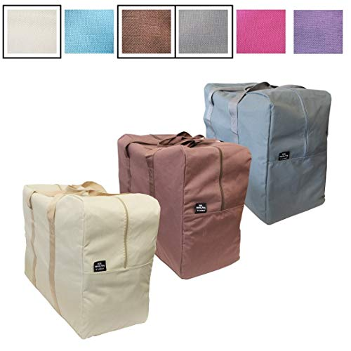 Big Handy Storage Bag & Home Organization Bag - In Six Stunning Colors - Large and Reusable - Stylish Storage and Laundry (3, The Neutrals)
