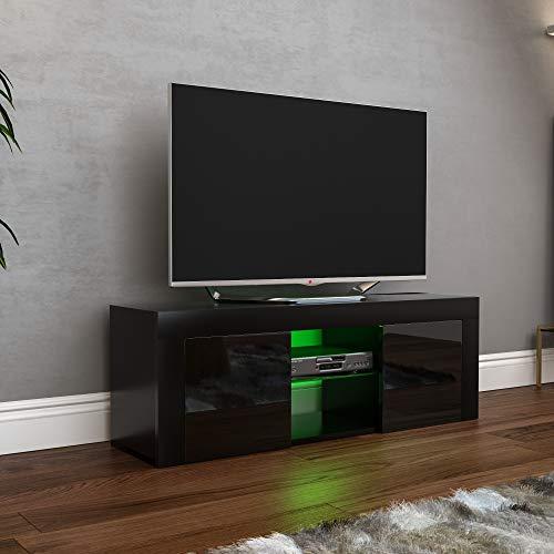 Vida Designs Eclipse-Mueble de TV LED con 2 Puertas, Color Negro, 2 Door