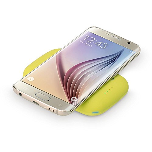 Qi-infinity Qi Wireless Charger Power Bank (4000 Mah) for Qi Compatible Devices - (Lemon/Green)