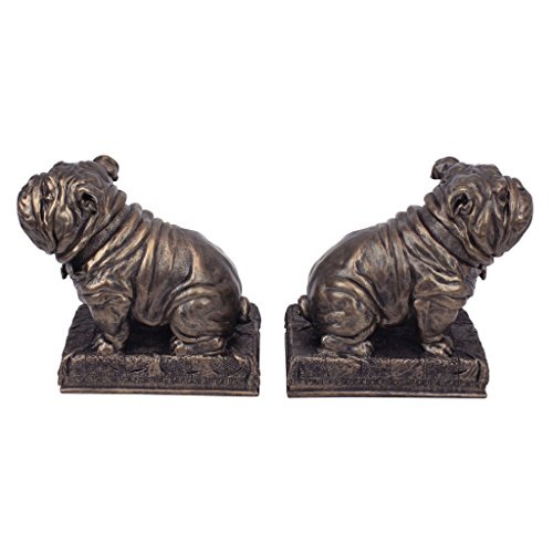 Design Toscano Bulldog Mascot Bookend in Antique Faux Bronze (Set of 2)